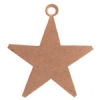 Metal Blank 24ga Copper Star 25mm With Hole